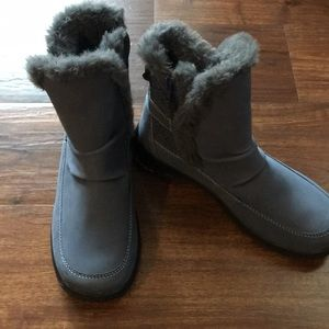 Jambu Ladies Gray Faux Fur Lined Boots Size 6.5 M